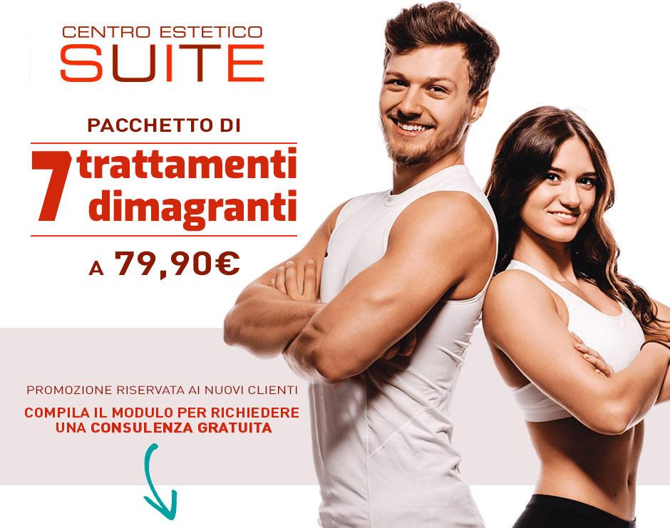 <strong>Solo per i nuovi clienti 7 trattamenti dimagranti a soli 79,90€</strong>(anziché 420€)